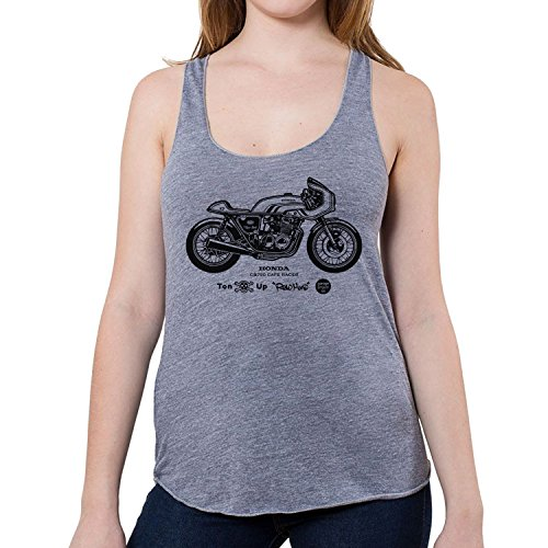 GarageProject101 Women's Honda CB750 Cafe Racer Tank Top M Athletic Grey
