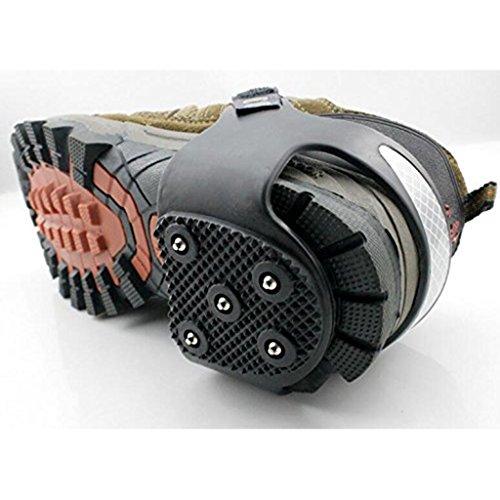 FLAMEER 2 pares Sujeción de Bota Calzados para Deportes Patas Grip Taco de Motriz Zapatillas de Helado Estaca