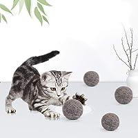 Etophigh Cat Ball Toys Kätzchen Grey Cashmere Balls Toy Höhlte Design für Das Füllen mit Catnip Pet Interactive Toy Indoor Outdoor