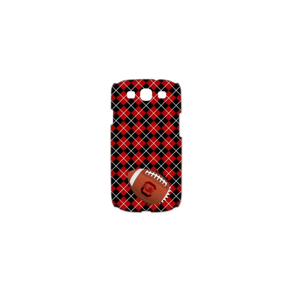 NCAA South Carolina Gamecocks Samsung Galaxy S3 I9300/I9308/I939 Case University of South Carolina Cases Cover Plaid stripes Red