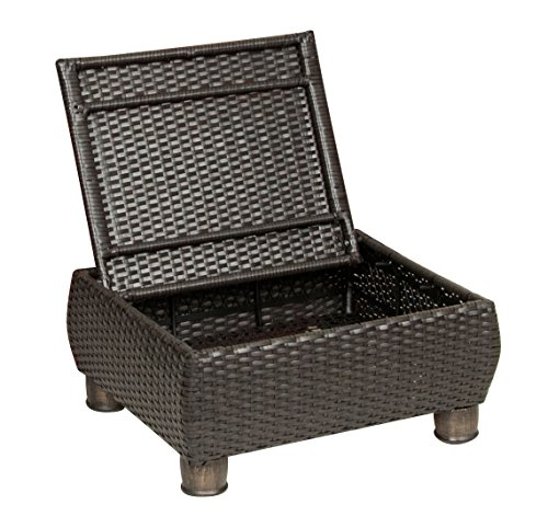 La z boy outdoor breckenridge resin wicker patio furniture ottomans 2 piece set brick red Plastic wicker patio furniture