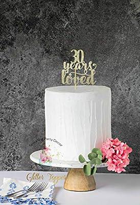 Decoración para tarta de 30 años de amor, 30 cumpleaños ...