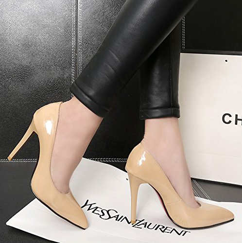Nude High Aisun Burnished Dressy Heels Womens Pointed Slip Toe Pumps Stiletto Shoes Low On Cut Sexy xHZwaxR