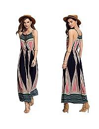 Franterd, Women's Long Dress Summer Boho Beach Dress Sundress