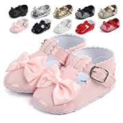 VTuoP Baby Girl Shoes Bowknot Princess Toddler Shoes Anti-slip Soft Sole Bow Shoes 0-18 Months