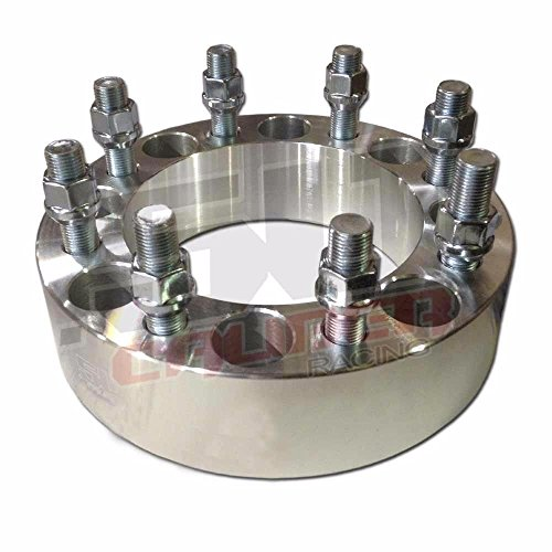 """One Pair (2) of Wheel Spacers – 8x6.5"""" (8x165.1mm) Bolt Pattern, 1.5 Inch Thick 9/16"""" Studs Dodge Ram Ford F-250 F-350 Chevy GMC C20, K20 [5284-A22] by 50 Caliber Racing (Image #2)"""