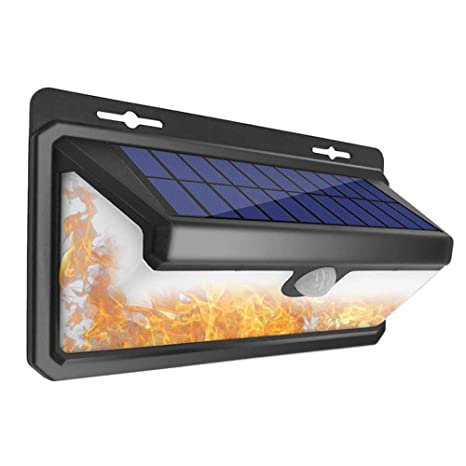 Luces solares al aire libre, Sotoboo 158 LED sensor de movimiento impermeable seguridad inalámbrico luces