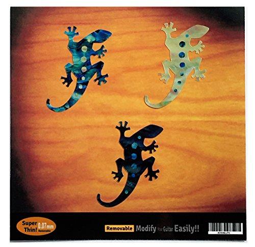 Lizard Sticker - Lizard Gecko Inlay Stickers Decal 3 Colors SET Guitar & Bass