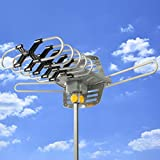 HDTV Motorized Remote Outdoor Amplified Antenna 360¡ã UHF/VHF/FM HD TV 150 Miles