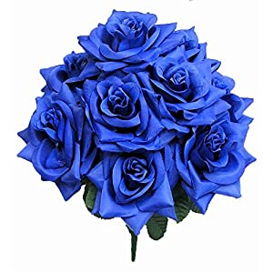 Admired By Nature 4 Artificial Blossoms Rose Bush for Home, Wedding, Restaurant & Office Decoration Arrangement, 9 Stems 52
