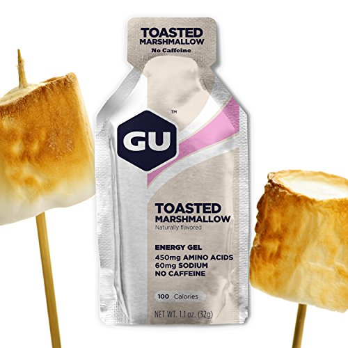 GU Energy Original Sports Nutrition Energy Gel, 24-Count, Toasted Marshmallow