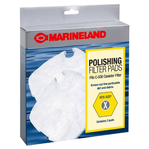 Marineland PA11500 C-530 Canister Filter Polishing Filter Pads, 2-Pack (530 Carbon)