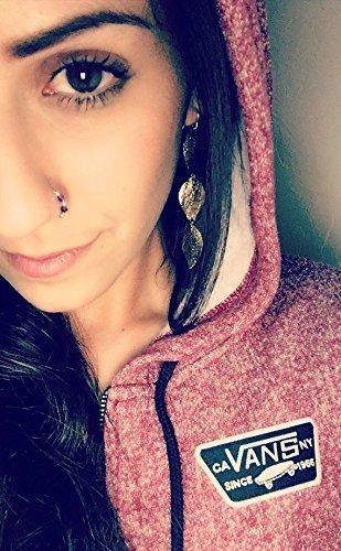 Amazon Com Purple Swarovski Crystal Indian Nose Ring Septum