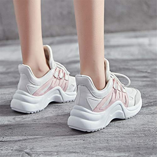 Autumn Pink Female Up White WinterLace Casual Running Ins Sneakers Platform Shoes Trends Shoes Qianliuk Flats Women vxZqnZR