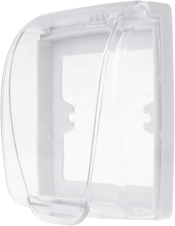 Interruptor de Pared de Plástico Impermeable de la Cubierta de la Caja de Luz de Pared Panel de Enchufe Timbre Flip Tapa Transparente Baño Cocina Accesorios