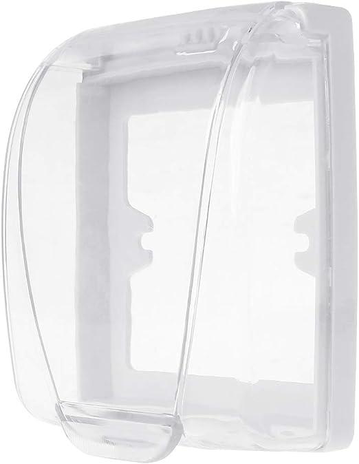Gjyia Interruptor de Pared de plástico Cubierta Impermeable Caja Panel de luz de Pared Enchufe Timbre Tapa Tapa Transparente Baño Accesorio de Cocina: Amazon.es: Hogar