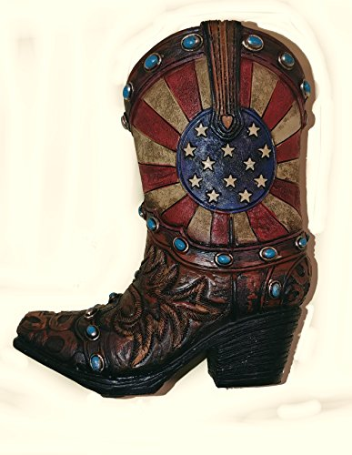 Toothpick Star Holder (Mini Cowboy Boot Toothpick / Pen Holder with Patriotic Stars and Stripes Pattern (5
