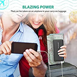 Power Bank RAVPower 26800mAh Portable Charger Total 5.5A Output 3-Port Battery Pack (2A Input, iSmart Technology 2.0) Portable Battery Charger External Battery for Smartphones Tablets and More-Black