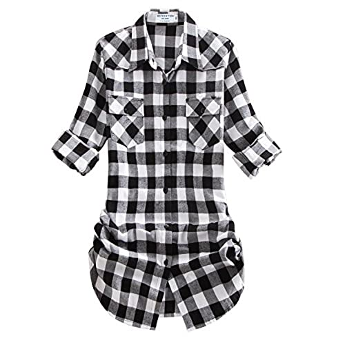 Black and white flannel for White and black flannel shirt womens