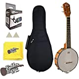 Oscar Schmidt Model OUB1 Concert Size Banjolele Banjo Uke w/Gig Bag and More