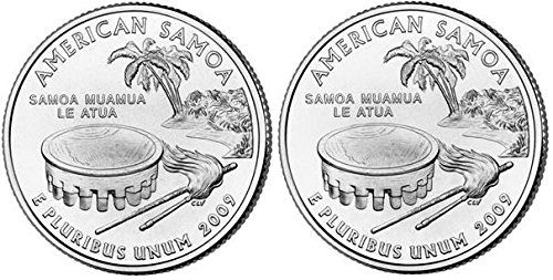 (2009 American Samoa State Quarters (Philadelphia & Denver Mints) Uncirculated)