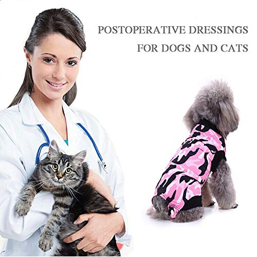 PanDaDa Dog Anxiety Jacket Anti-Anxiety Shirt Stress Relief Keep Calm Clothes, Pet Protective Weaning Anti-Licking Clothes Post-Operation Shirts Clothes Comfortable Pet Surgical Gown -