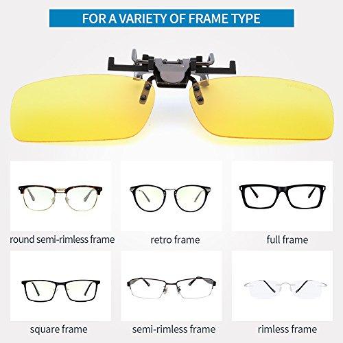 mujeres para 3026l Metal Gafas sol recetados Flip montura gafas Clip Gafas VEGOOS sin de amarillo y sol hombres Clip para On Up de UZqA8w
