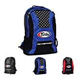 Fairtex Gym Bag Backpack Gear Equipment Color Blue or Red for Muay Thai, Boxing, Kickboxing, MMA (Blue)