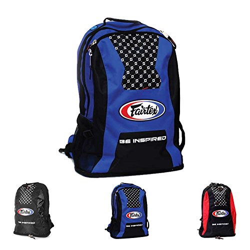 UPC 741725339425, Fairtex Gym Bag Backpack Gear Equipment Color Blue or Red for Muay Thai, Boxing, Kickboxing, MMA (Blue)