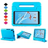 Lenovo TAB 4 8 Plus Case - LTROP Portable Light Weight Shock Proof Convertible Handle Stand Case Cover for Lenovo TAB 4 8 Plus 2017 Tablet (TB-8704F/N), Blue