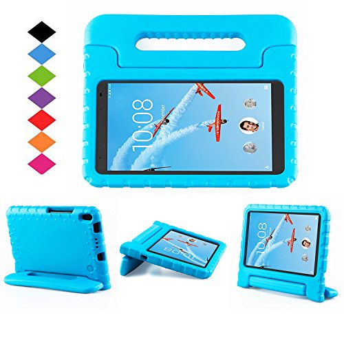 Lenovo TAB 4 8 Plus Case - LTROP Portable Light Weight Shock Proof Convertible Handle Stand Case Cover for Lenovo TAB 4 8 Plus Tablet (2017 Release), Blue