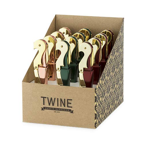 Wine Corkscrew, Rustic Assorted Double-hinged Waiters Pulltap Corkscrews (Sold by Case, Pack of 12) by True Fabrications (Image #2)