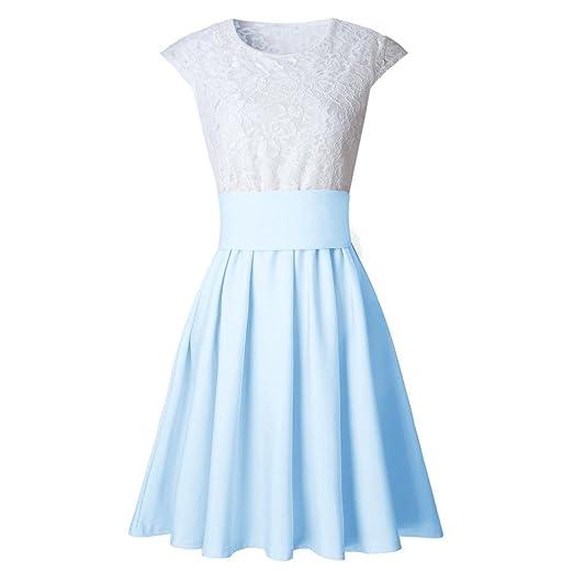 Amazon.com: Gotd Women Lace Lace Party Cocktail Mini Dress Ladies Summer Short Sleeve Dresses: Clothing