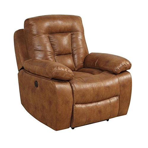 Coaster Home Furnishings Coaster 601866P Power Recliner, Saddle Evensky Motion Collection (Saddle Reclining Sectional)
