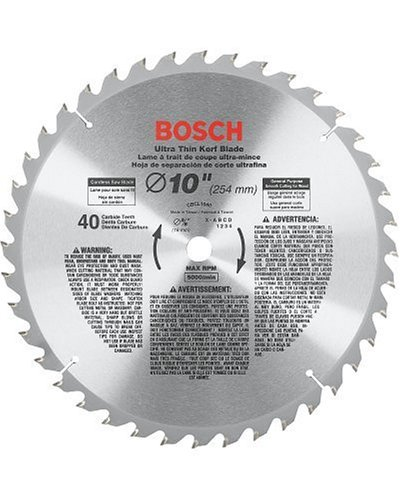 Bosch Cordless Miter Saw (Bosch CBCL1040 10-Inch 40 Tooth ATB General Purpose Saw Blade with 5/8-Inch Arbor)