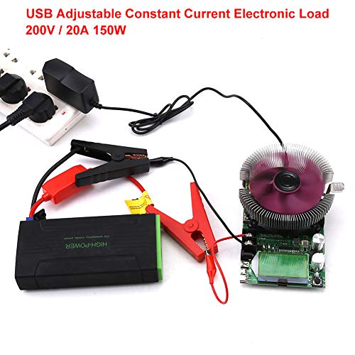 Electronic Load Tester, 150W 200V 20A USB Load Tester, Adjustable Constant Current Electronic Load Battery Capacity Tester Module