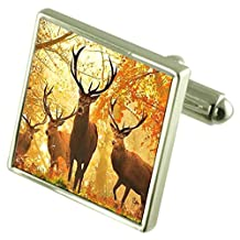 Forrest Stag Deer Cufflinks with Pouch