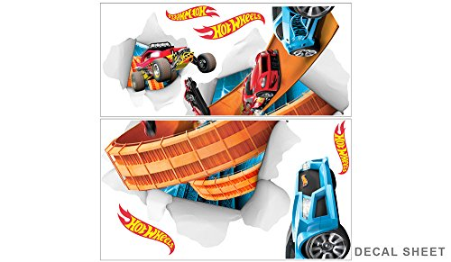 Hot Wheels Large Cars Busting In Wall Decal Set by Wall-Ah! (Image #3)