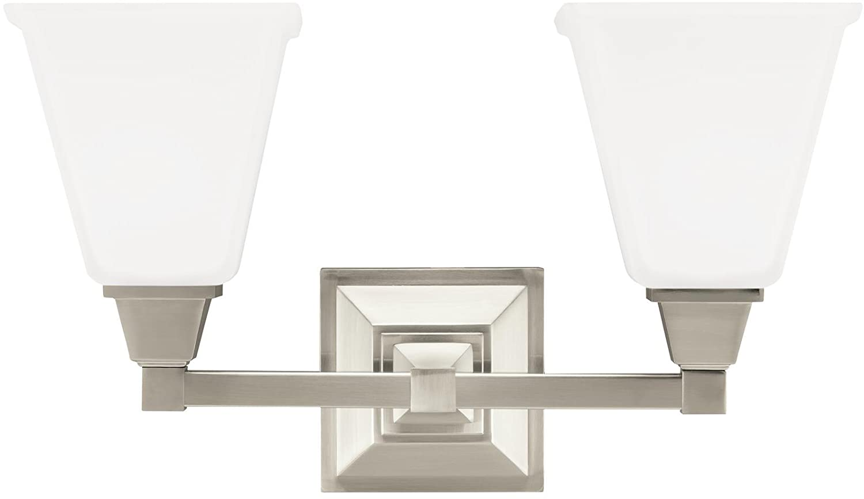 Sea Gull照明Denhelmつや消しニッケルEnergy Star two-light LED Bath Vanity   B076FTWVFY