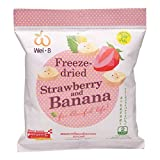 Wel-B, Freeze-Dried Strawberry and Banana, 22 g (Pack of 6 units) / Beststore by KK