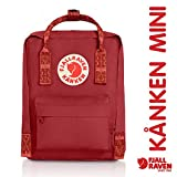Fjallraven - Kanken-Mini Classic Pack, Heritage and Responsibility Since 1960, Deep Red-Folk Pattern