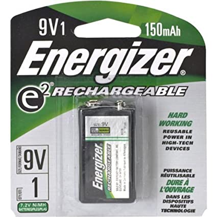 Amazon.com: 9 V batería NiMH recargable al por menor Paquete ...