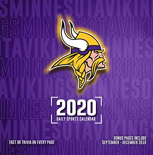 Mn Vikings Schedule 2020.Amazon Com Minnesota Vikings 2020 Calendar Office Products