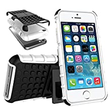 Apple iPhone SE Case 2016 Release, Crosstree Slim Rugged Durable Protective Case with Kickstand for iPhone 5S/5 Case
