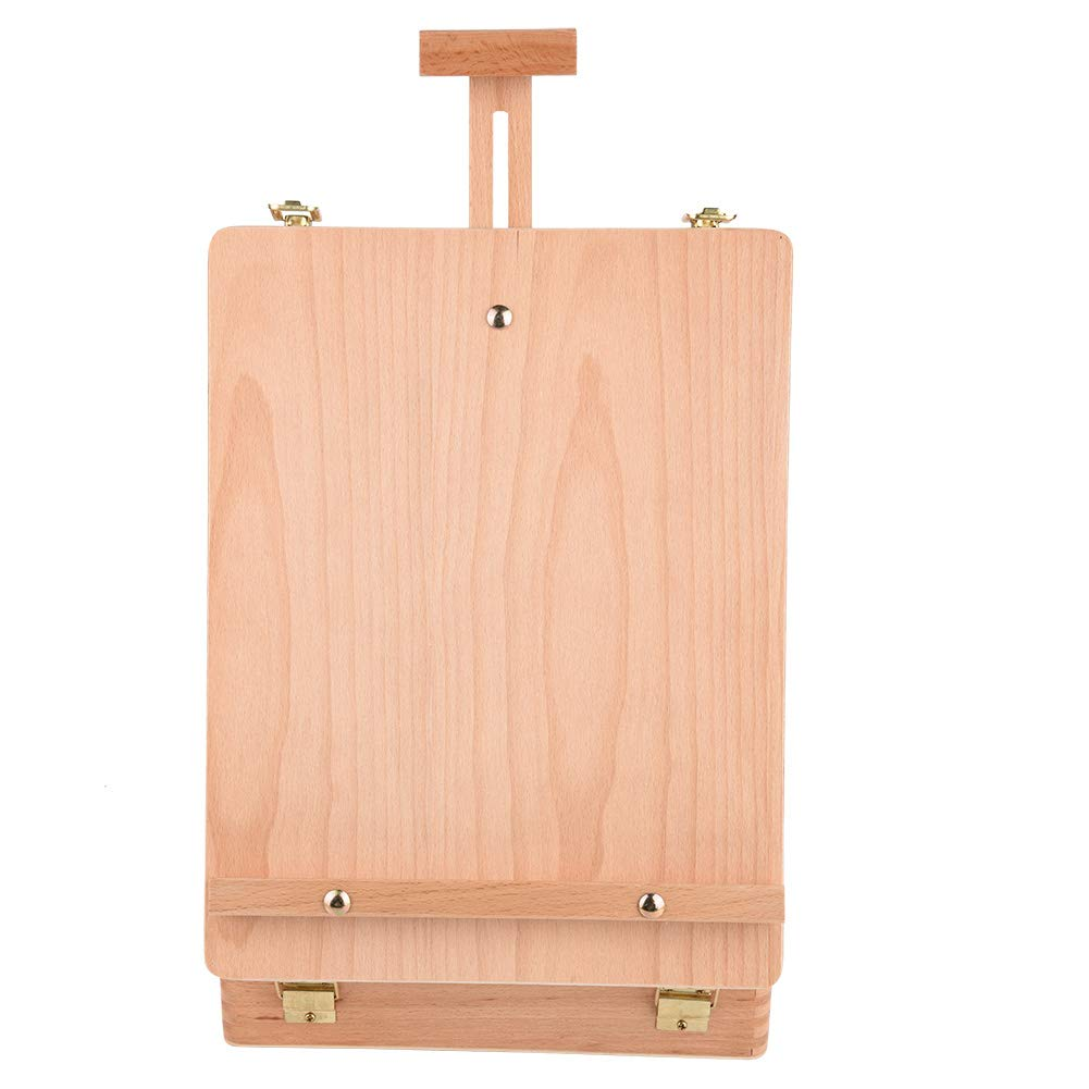 Easel Box,Wooden Table Top Easel Sketching Portable Artist Drawing Painting Box