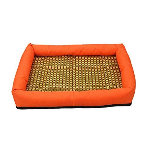 Pet Cat Dog Summer Sleep Bed Cooling Mat Pet Supply Pads Cushion XL (orange)