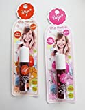 NEW! Utip Herbal Tint Tropical Orange & Pink Color Flower Essences Tint For Lip & Cheek Limited Edition Set (By Ice Lemon)