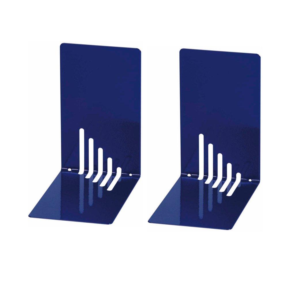Wedo 1021003 Reggilibri in Metallo Blu 14 x 8,5 x 14 cm Stretti