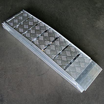 Rampa di Carico pieghevole in alluminio per moto e quad (fino a 600 kg, L = 225 cm) L = 225cm)
