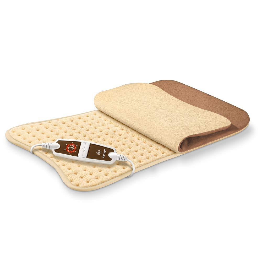 Beurer HK115 - Almohadilla electrónica de tacto suave, 47 x 34 cm, lavable, forma rectangular, color crema: Amazon.es: Salud y cuidado personal